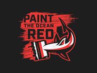 Print Shark grit texture distress red bold illustrator illustration logo shark logo paint marks shark illustration shark vector