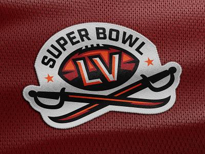 Super Bowl LV | Logo Concept illustrator vector clean art tampa bay football logo football bold illustration sports illustration sword beveling sports logo super bowl badge logo logo design vector illustration