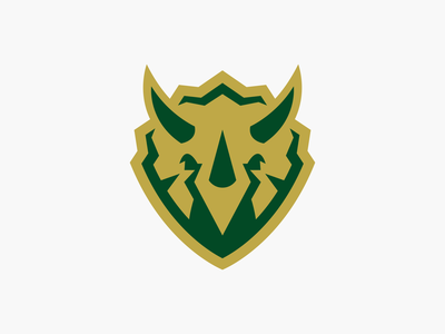 Unused Concept for Outdoor Apparel Brand bold simple clean logo vector wilderness branding apparel brand design triceratops logo icon mark icon logo protection shield outdoor brand triceratops logo designer
