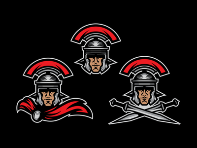 Roman Centurion Logo System clean bold illustration vector logo designer mascot design centurion ancient rome sports logo sports branding logo logo system