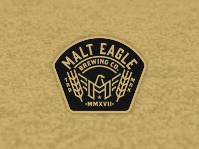 Malt Eagle Brewing Co. Branding Concept (1/3) monogram icon packaging packing design vector badge logo badge design badge eagle beer label beer brewery logo brewery branding brewing company beer branding branding logo brewing