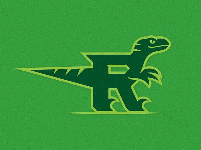Raptor + R Monday Morning Warm-up identity logo design illustration branding clever smart monogram bold clean simple raptor icon timeless athletic department athletic logo sports logo exploration logo