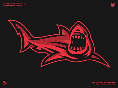 Shark Illustration   Finalized 02 vector sports sports industry sports branding sports logo branding great white shark clean aggressive bold halftone illustrator illustration graphic designer brand designer logo designer shark illustration shark logo logo