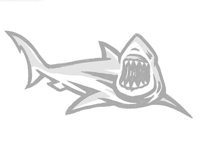 Shark Illustration   Vector 03 sports design aggressive bold sports illustration sports industry sports branding vector process timelapse process video branding brand designer illustrator shark illustration shark logo shark graphic designer sports designer logo designer logo