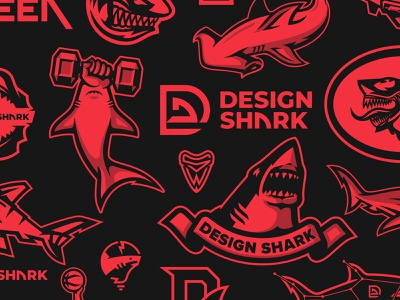 Shark Mark Poster Design (3/3) shark week logo collection illustration sports logo branding bold vector aggressive clean logotype logomark logo shark illustration shark branding shark logo shark poster poster design shark poster