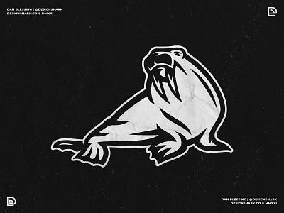 Walrus Mascot Logo sports branding sports logo sports illustration walrus illustration illustration bold clean vector walrus graphic design logo design sports design walrus mascot sports mascot mascot design mascot