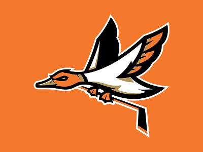 Rebounded Duck illustrator logo sports ducks hockey anaheim
