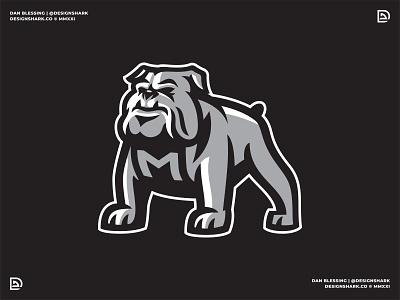 Unused Brand ID Concept design clean bold dog lacrosse brand identity vector illustration sports branding logo sports logo bulldog mascot branding