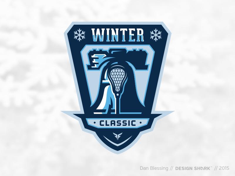 Winter Classic // Lacrosse Tourney logo philly snow vector logo tournament winter lacrosse