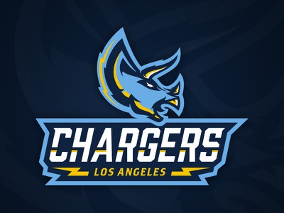 LA State of Mind Vol.3 illustrator nfl football sports logo la dinosaur triceratops rebrand chargers