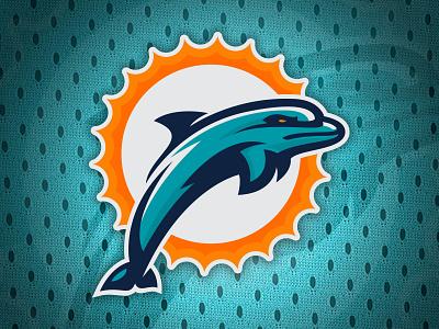Miami Dolphins Re-Brand football sun concept design vector southbeach brandidentity logo miami nfl dolphins