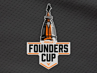 Philly Founders Cup | Lax Tournament Logo branding design tournament illustrator vector logo sports philly lacrosse
