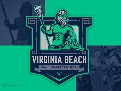 You say Neptune, I say Poseidon vector poseidon navy blue designshark illustration badgedesign design illustrator tournament virginia beach logodesigner sports brand lacrosse branding