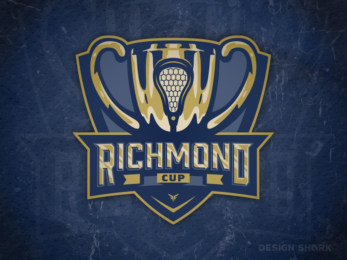 'Nother Lacrosse Tourney Logo crest badge design gold navy illustration trophy typography branding logo vector sports branding lacrosse