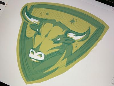 ZFL   Taurus Bulls Logo Process