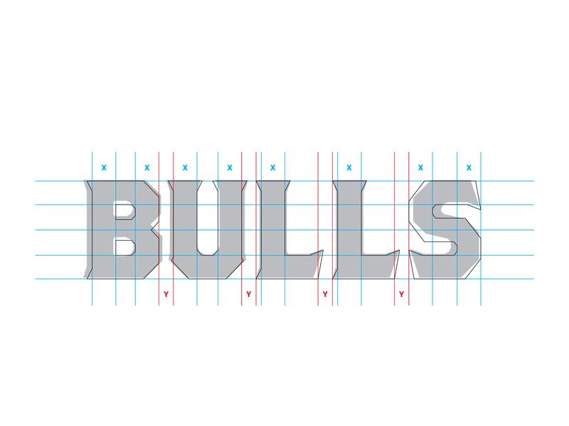 Zfl Taurus Bulls Wordmark Process By Dan Blessing On Dribbble
