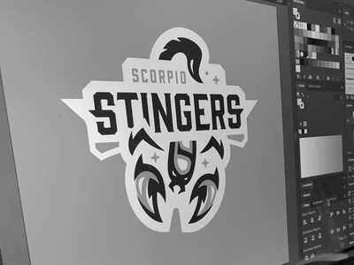 ZFL | Scorpio Stingers WIP crest badge logotype bold vector identity branding sports branding sports logo logo design logo scorpio scorpion astrology sign astrology football league zodiac