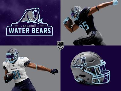 ZFL | Aquarius Water Bears Visual identity