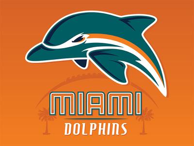 Miami Dolphins logo concept