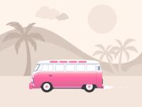 Volkswagen Road Trip Illustration