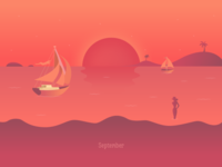 The end of Summer - Red Sunset