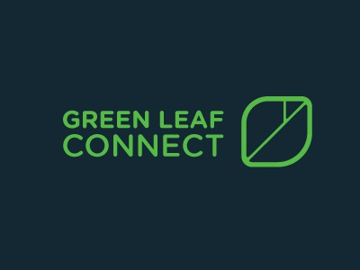Green Leaf Connect logo leaf