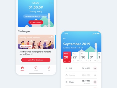 Inssan Time app ux ui