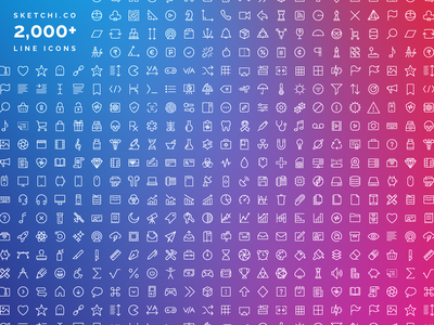 Sketchi.co 2,000+ Icon Library icon pack figma invision illustrator sketch application app xd ux symbol interface icon library icon set symbols icons design vector glyph iconography icon