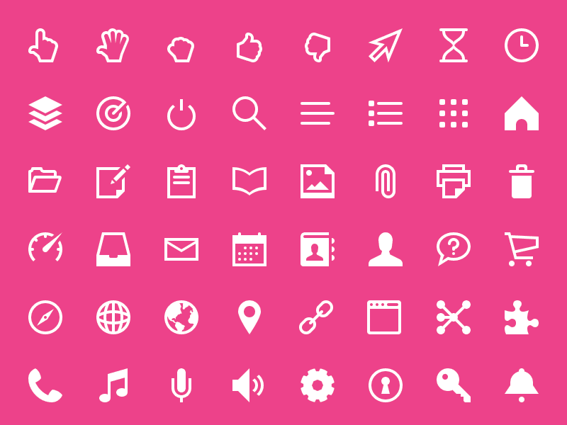 340 Freebies! Touch Icon Set touch glyphs icon iconography ios flat web app application free vector retina