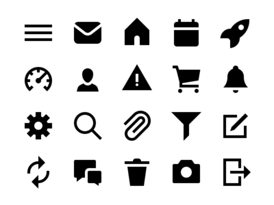 UI & UX Essentials Solid Icons
