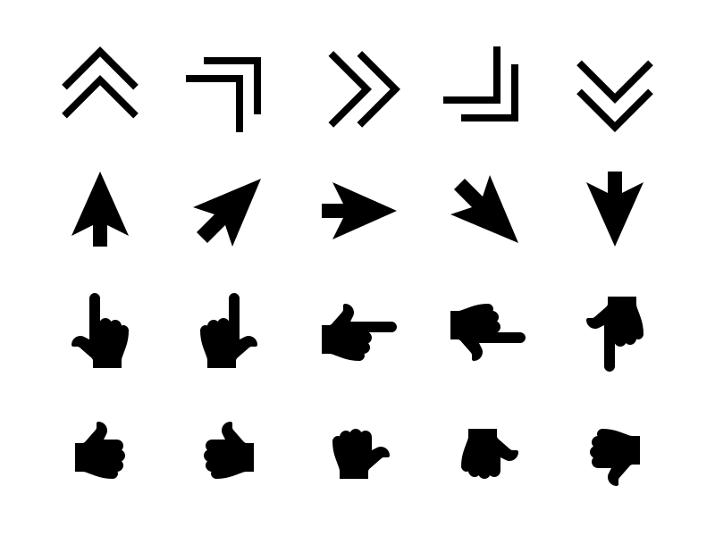 Cursor & Pointer Solid Icons interaction click select tap pointer cursor vector mouse ui8 glyph iconfinder creative market iconography icon
