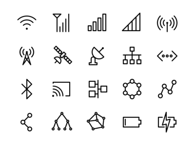 Connection & Power Icon Set