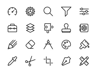 Tools & Settings Icon Set