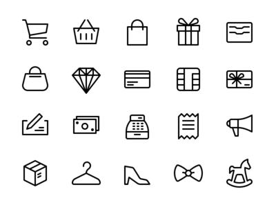 Shopping & Commerce Icon Set