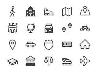 Travel & Transit Icon Set