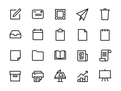 Office & Communication Icon Set