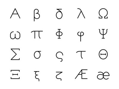 Greek & Latin Symbols