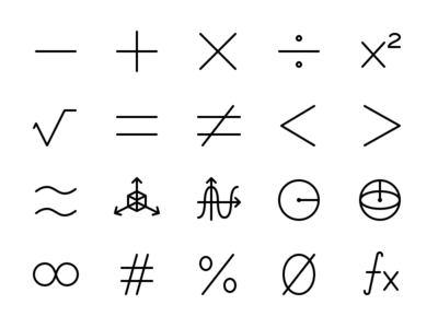 Math & Number Icon Set