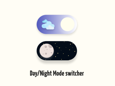 Day night switcher icon design vector ui app minimal illustration