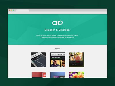 Portfolio Site V2 light ui design portfolio site web green flat ux minimal clean simple
