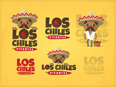 Los chiles picantes mexico restaraunt chile pepper logo muchacho zerographics sombrero