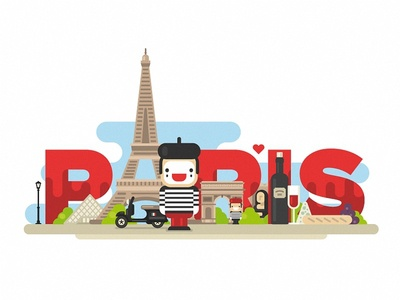 Paris paris france mime scooter louvre mona lisa triumphal arch eiffel tower