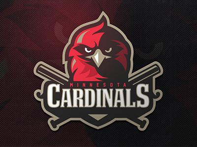 Cardinals zerographics sport logo bat baseball bird cardinals