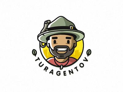 Turagentov tourist male agency tour zerographics logo