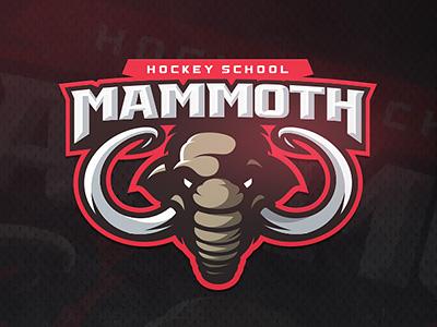 Mammoth zerographics school hockey logo sport mammoth