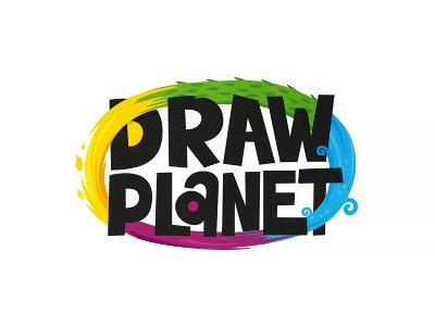Draw planet v.2  fire water element zerographics logo planet draw