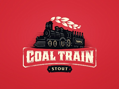TAPS Coal Train Stout zerographics logo wheat old craft pub steam beer stout train coal taps