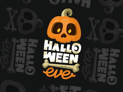 Halloween Eve zerographics logo skull pumpkin eve halloween