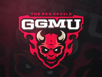 GGMU zerographics logo sport red devil ggmu united manchester