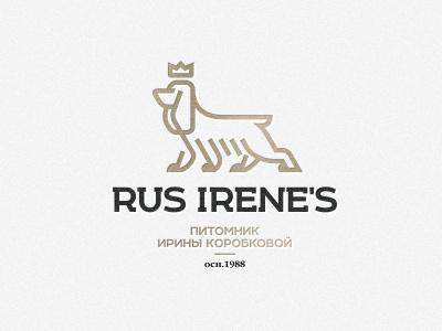 Rus Irene's zerographics logo breeder spaniel cocker english irenes rus